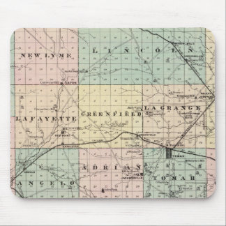 Map of Monroe County, State of Wisconsin Mouse Pad