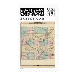 Map of Monroe County, State of Wisconsin Postage