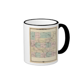 Map of Monroe County, State of Wisconsin Ringer Mug