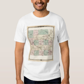 Map of Monroe County, State of Wisconsin T Shirt