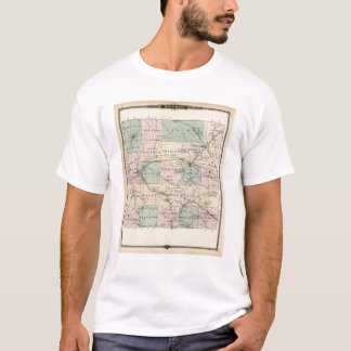 Map of Monroe County, State of Wisconsin T-Shirt