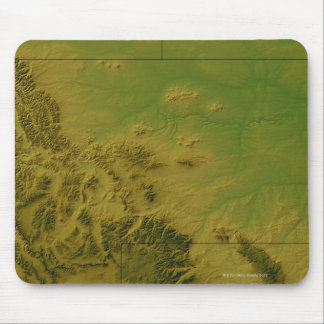 Map of Montana Mouse Pad