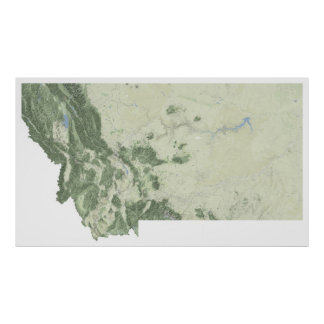 Map of Montana Poster