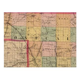 Map of Montcalm County, Michigan Postcard