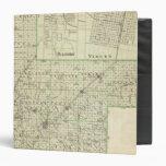 Map of Montgomery County, Hillsboro and Virden Vinyl Binder