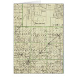 Map of Montgomery County, Hillsboro and Virden Greeting Cards