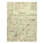 Map of Montgomery County, Hillsboro and Virden Postcard
