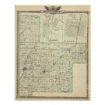 Map of Montgomery County, Hillsboro and Virden Print