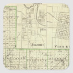 Map of Montgomery County, Hillsboro and Virden Square Stickers