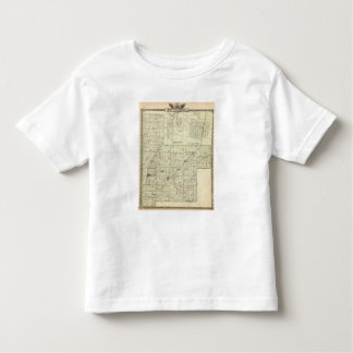 Map of Montgomery County, Hillsboro and Virden Toddler T-shirt