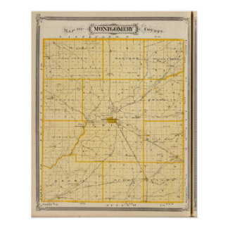 Map of Montgomery County Print