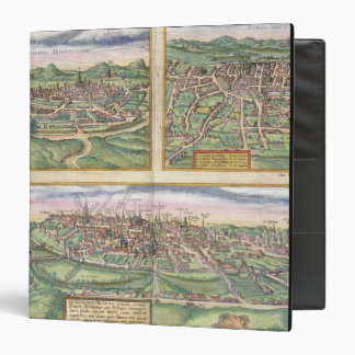 Map of Montpellier, Tours, and Poitiers, from 'Civ 3 Ring Binder