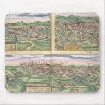 Map of Montpellier, Tours, and Poitiers, from 'Civ Mousepads