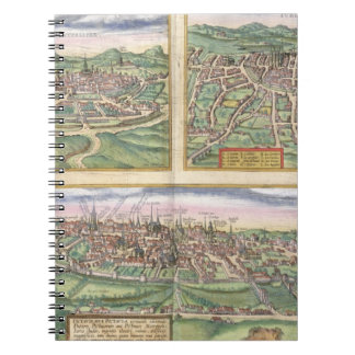 Map of Montpellier, Tours, and Poitiers, from 'Civ Notebook