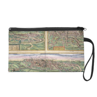 Map of Montpellier, Tours, and Poitiers, from 'Civ Wristlet Purse
