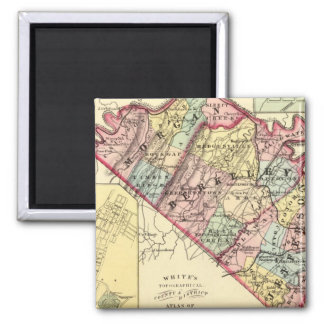 Map of Morgan, Berkeley, and Jefferson counties 2 Inch Square Magnet