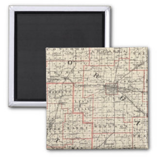 Map of Morgan & Scott counties 2 Inch Square Magnet