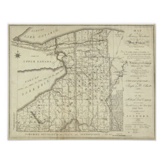 Map of Morris's Purchase or West Geneseo Poster