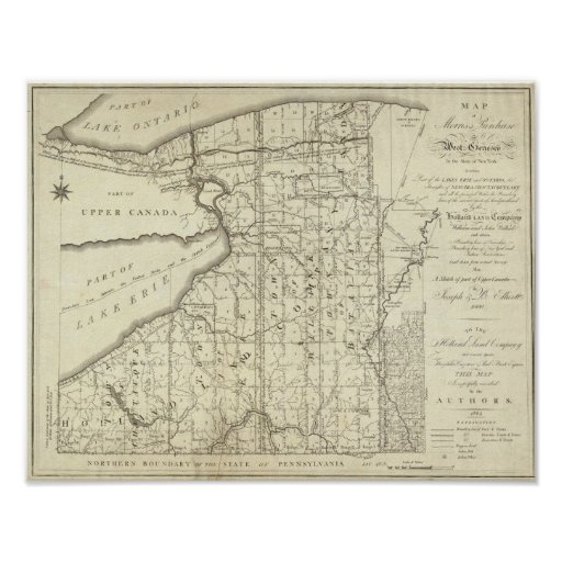 Map of Morris's Purchase or West Geneseo Posters