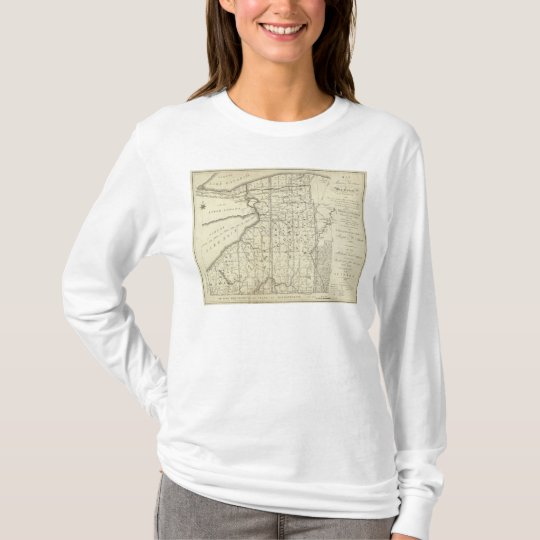 Map of Morris's Purchase or West Geneseo T-Shirt