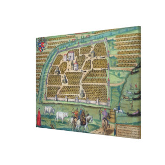 Map of Moscow Canvas Print