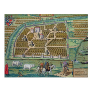 Map of Moscow Postcard