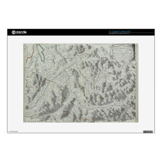Map of Mountains Decals For Laptops