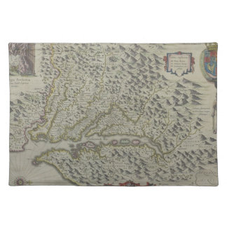 Map of Mountains in Virginia, USA Cloth Placemat