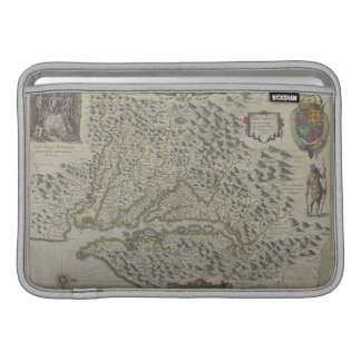 Map of Mountains in Virginia, USA MacBook Air Sleeve