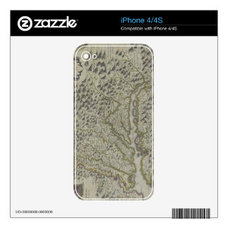 Map of Mountains in Virginia, USA Skin For The iPhone 4S