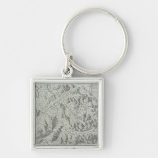Map of Mountains Keychain