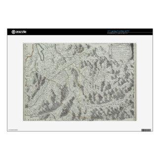 Map of Mountains Laptop Skins