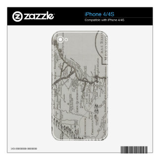 Map of Mozambique, Africa iPhone 4S Decal
