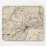 Map of Muscatine County Mouse Pad