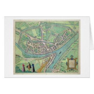 Map of Namur, from 'Civitates Orbis Terrarum' by G Card