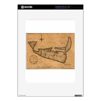 Map of Nantucket 1782 Decal For The iPad