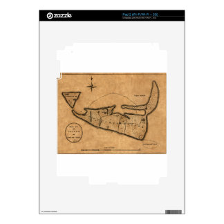 Map of Nantucket 1782 Skin For iPad 2
