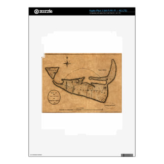 Map of Nantucket 1782 Skin For iPad 3