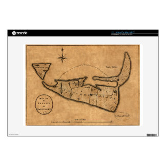 Map of Nantucket 1782 Skin For Laptop