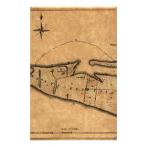 Map of Nantucket 1782 Stationery