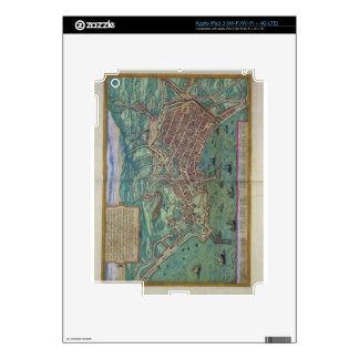 Map of Naples, from 'Civitates Orbis Terrarum' by iPad 3 Decals