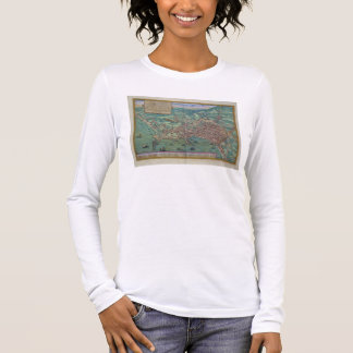 Map of Naples, from 'Civitates Orbis Terrarum' by Long Sleeve T-Shirt