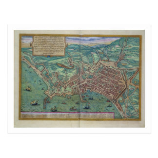 Map of Naples, from 'Civitates Orbis Terrarum' by Postcard