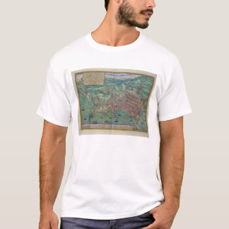 Map of Naples, from 'Civitates Orbis Terrarum' by T-Shirt