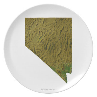 Map of Nevada Party Plates