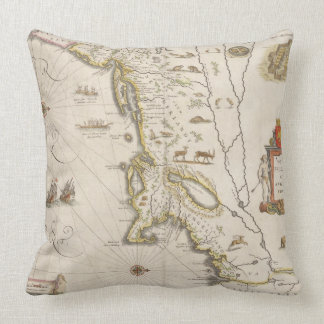 Map of New Belgium and New England, pub. in Amster Throw Pillows