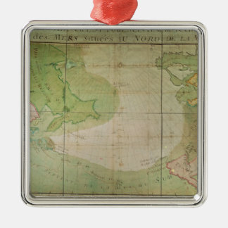 Map of New Discoveries Christmas Ornament