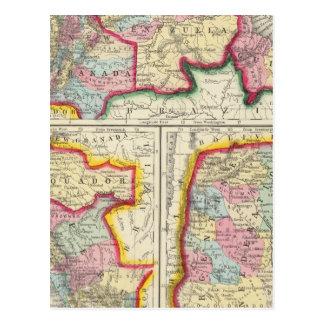 Map Of New Granada, Venezuela, And Guiana Postcard