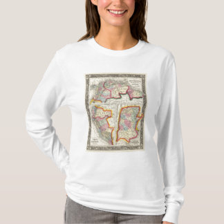 Map Of New Granada, Venezuela, And Guiana T-Shirt