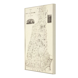Map of New Hampshire 1816 Canvas Print